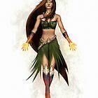 Hawaiian Goddess by Jokisaloart