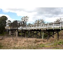 Dungog Road Bridge -Paterson River, NSW Australia Photographic Print