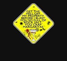 DANGER: crap Margaritas! Womens Fitted T-Shirt