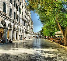 Liston Corfu, Greece, HDR by WPDWA