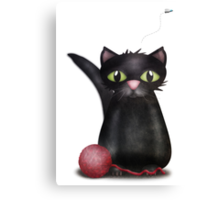 Kitty and the Fly Canvas Print