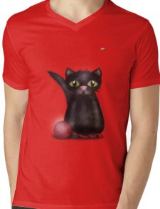 Kitty and the Fly Mens V-Neck T-Shirt