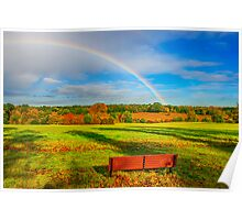 Rainbow Bench view Poster