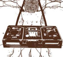 VITRUVIAN ALIEN DJ T-SHIRT #02 Sticker