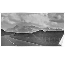 Curved Mountainous Road Poster