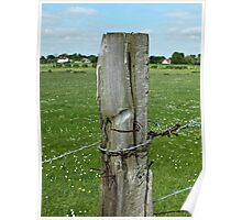 Old Fence Post, Dorchester, England Poster