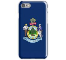 Smartphone Case - State Flag of Maine - Horizontal iPhone Case/Skin