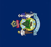 Smartphone Case - State Flag of Maine - Vertical by Mark Podger
