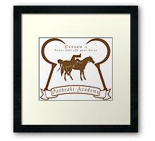 Dothraki Academy GOT T Shirt Framed Print