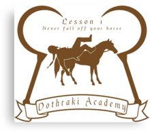 Dothraki Academy GOT T Shirt Canvas Print