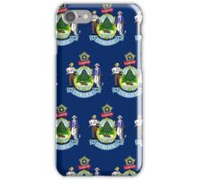 Smartphone Case - State Flag of Maine - Horizontal II iPhone Case/Skin
