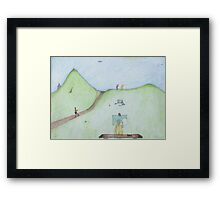 it is just a nude, painting.  Framed Print