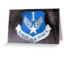 First Air Force Crest  Greeting Card