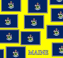 Smartphone Case - State Flag of Maine - Horizontal VI by Mark Podger