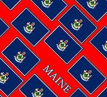 Smartphone Case - State Flag of Maine - Diagonal I by Mark Podger