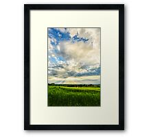 Opening of the Curtains Framed Print