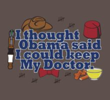 Matt Smith is leaving. Obama lied to us.  Baby Tee