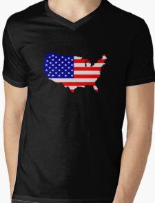 United States of America Mens V-Neck T-Shirt