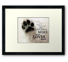 True Love - By Sharon Cummings Words by Billings Framed Print