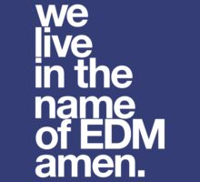 We Live In The Name Of EDM Amen. by DropBass