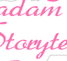World of Darkness - Madam Storyteller Pink Sticker