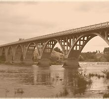 Winchester Oregon Historic Bridge (available in ipad case) by Jess Meacham