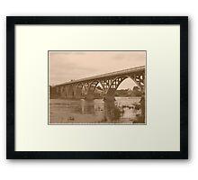 Winchester Oregon Historic Bridge (available in ipad case) Framed Print