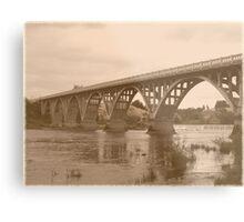 Winchester Oregon Historic Bridge (available in ipad case) Metal Print