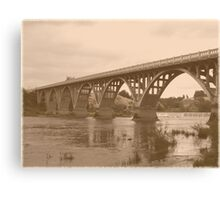 Winchester Oregon Historic Bridge (available in ipad case) Canvas Print