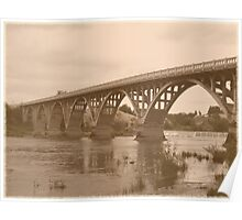 Winchester Oregon Historic Bridge (available in ipad case) Poster