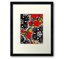 Beautiful Floral Primary Colored Print Framed Print