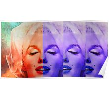 Marilyn Monroe - Living Color by Sharon Cummings Poster