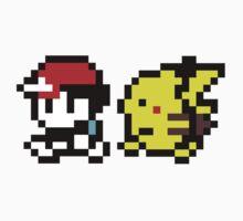 8-Bit Pikachu & Ash by Mason Gerrard