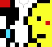 8-Bit Pikachu & Ash Sticker