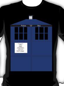 Simplified tardis T-Shirt