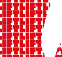Arnold - Lift Red (variation 1) Sticker