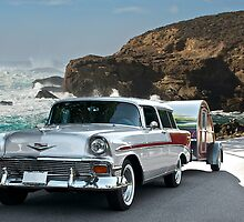 1956 Chevrolet Nomad - Summer Vacation by DaveKoontz