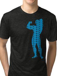 Arnold - Lift Blue (variation 2) Tri-blend T-Shirt