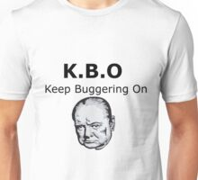 Keep Buggering On Unisex T-Shirt