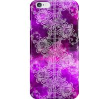 White Lace on Purple Tissue Paper iPhone Case/Skin