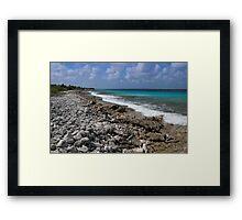 Bonaire coastline Framed Print