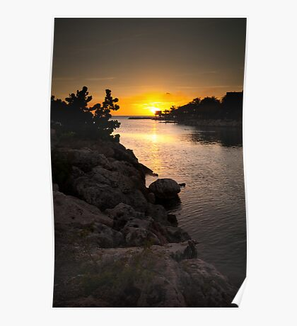 Curacao Sunset Poster