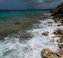 Dark clouds in Bonaire by Ralph Goldsmith