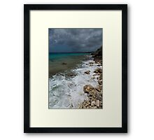 Dark clouds in Bonaire Framed Print