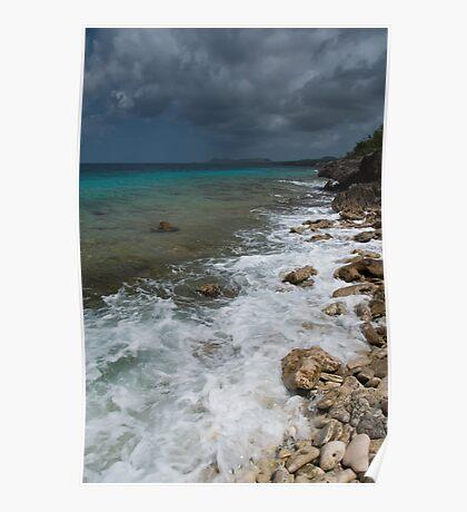 Dark clouds in Bonaire Poster