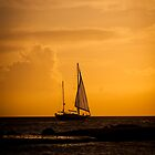 Sailing a sunset sky by Ralph Goldsmith