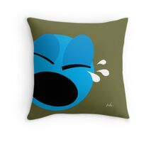 Emotions, Unhappy. Throw Pillow