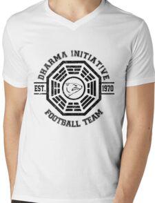 Dharma Initiative Football Team (Black Ver.) Mens V-Neck T-Shirt