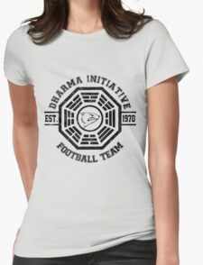 Dharma Initiative Football Team (Black Ver.) Womens Fitted T-Shirt