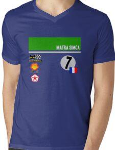 Le Mans Retro - 1973 Matra Simca  Mens V-Neck T-Shirt